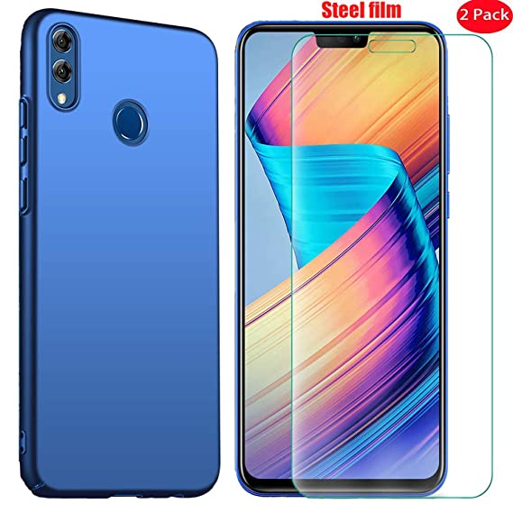 Mylboo Case Compatible wlth Huawei Honor 8X with Screen Protector, [3 in 1]  Back Cover [Ultra-Thin] [Anti-Drop] [Shockproof] Hard case + [2 Pack] 9H