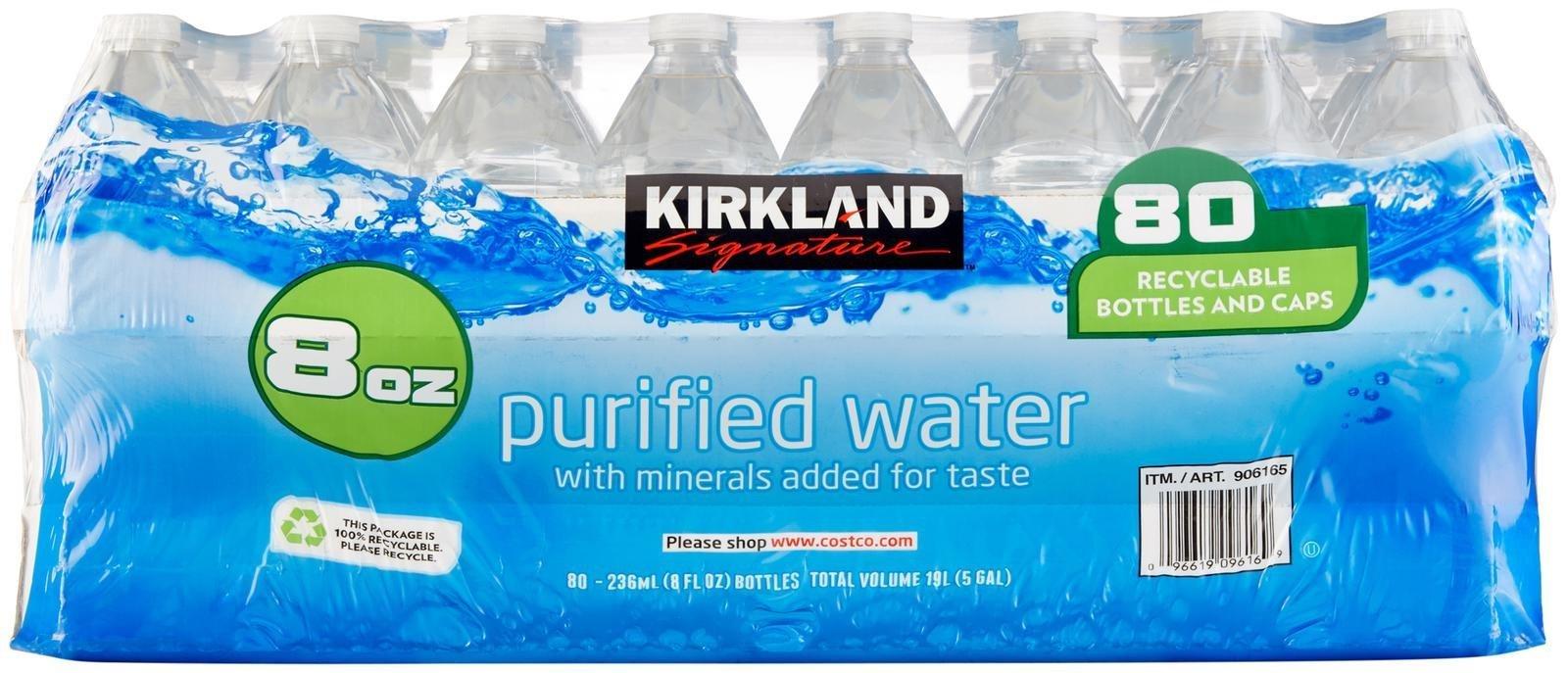 Amazon com : Kirkland Signature Premium Drinking Water, 8 Oz, 80