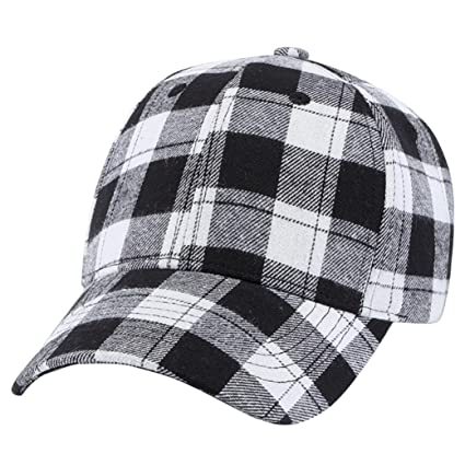 a196a0efc0f14 Amazon.com  Litetao Baseball Plaid Cap