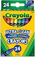 Crayola 24 Washable Crayons, School and Craft Supplies, Gift for Boys and Girls, Kids, Ages 3,4, 5, 6 and Up, Back to...