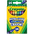 Crayola 52-6924 24 Washable Crayons, School and Craft Supplies, Gift for Boys and Girls, Kids, Ages 3,4, 5, 6 and Up, Back to