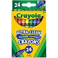 Crayola 24 Washable Crayons, School and Craft Supplies, Gift for Boys and Girls, Kids, Ages 3,4, 5, 6 and Up, Back to school, School supplies, Arts and Crafts,  Gifting