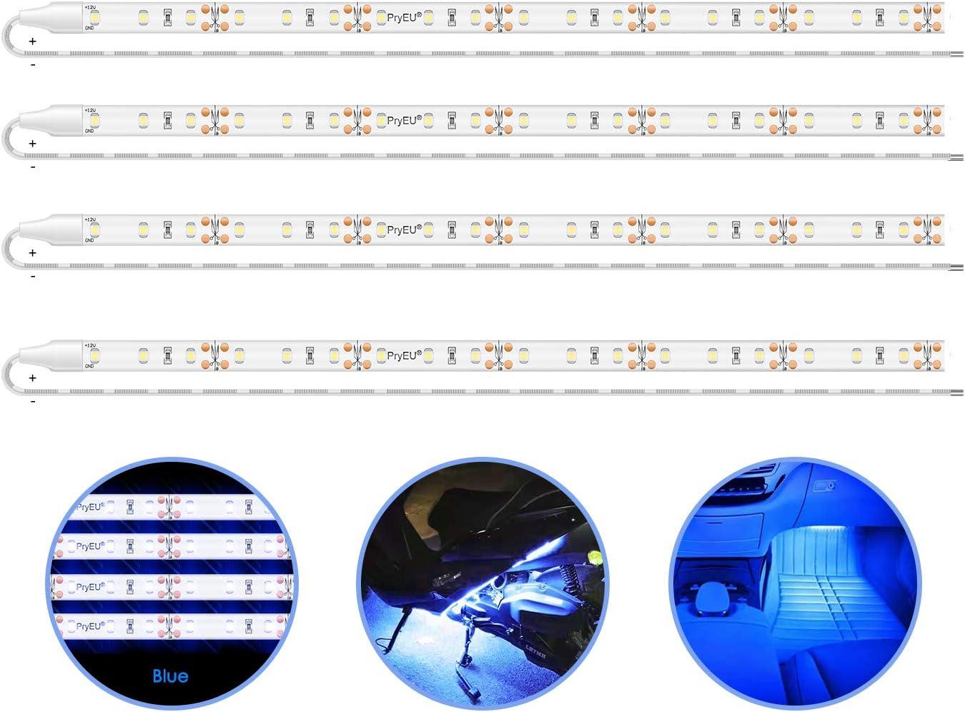 "4 PC 12V 12/"" 1FT 15SMD Flexible LED Strip Light Waterproof For Car Truck Boat"