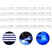 PryEU Blue (465-475nm) LED Strip Lights 12V Waterproof for Auto Car Truck Boat Motorcycle Interior Lighting 12'' 30CM…