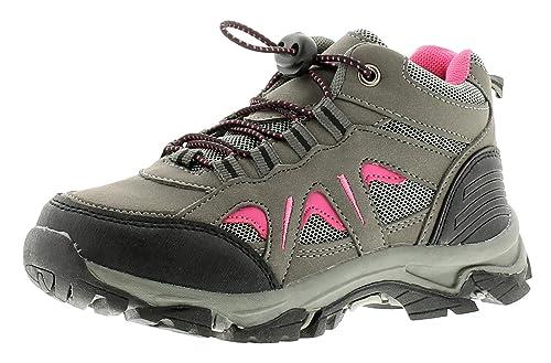 X Hiking Crag Mädchen Kinder Wanderschuhe Stiefel GrauPink