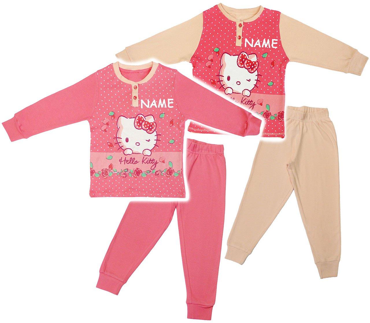 alles-meine.de GmbH 2 tlg. Set _ Hausanzug / Schlafanzug - Katze - Hello Kitty - Incl. Name - ..