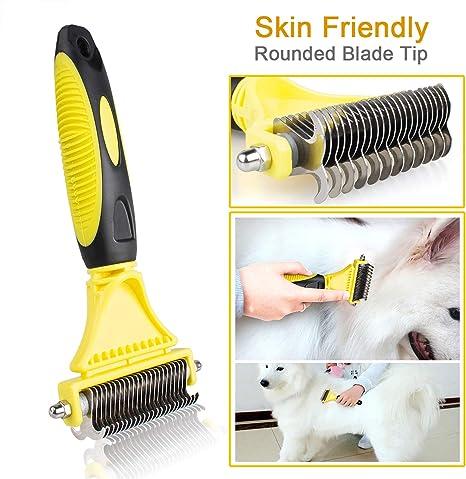 LLAni Pettine per la rimozione dei peli di animali domestici spazzola massaggiante per cani e gatti Lbl