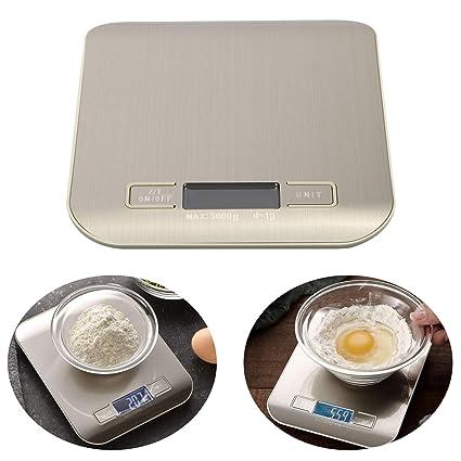 Amazon.com: EEEKit Báscula digital de cocina, 111 b/11.0 lbs ...
