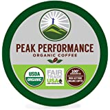 Peak Performance High Altitude Organic Coffee. High Performance Body & Mind Coffee For High Performance Individuals. Fair Trade Beans Full Of Antioxidants. Medium Roast Single Serve KCups 24 Count