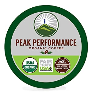 Peak Performance High Altitude Organic Coffee Pods.