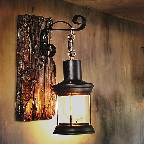 iacon apliques Vintage Retro Wandleuchte Industrial rústico 1003-pir) Antiguo Indoor E27 Farol lámpara
