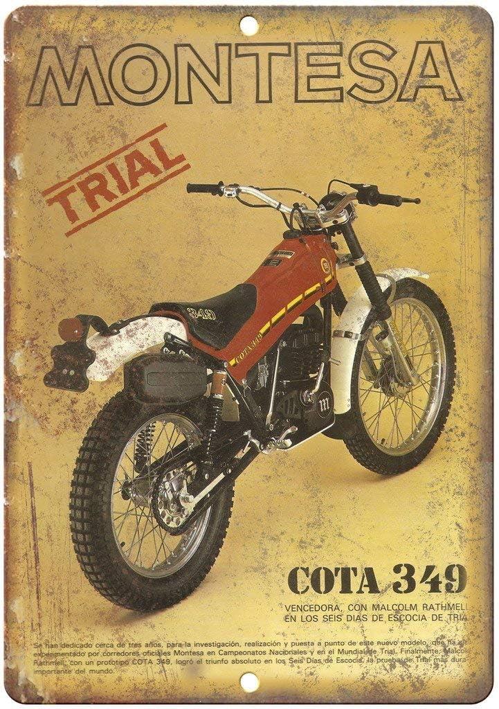 Nololy Montesa Trail Bike COTA Vintage Étain Signe Métal Mur Occident Affiche Rétro Panneau Décorative Plaque Pour Bar Garage Accueil Mariage Anniversaire Cadeau: Amazon.es: Hogar