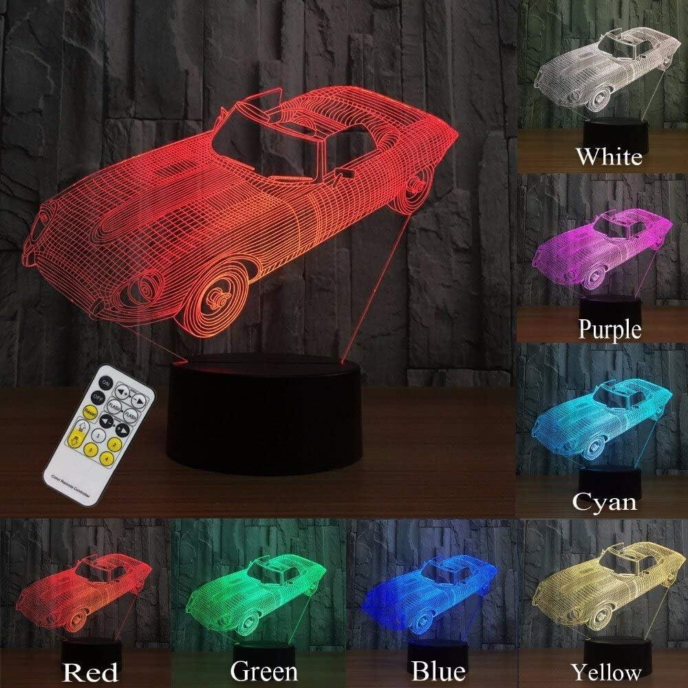 Luces nocturnas para niños Toy Remote Car 3d Lámpara de luz nocturna Ayuda a los niños a sentirse seguros Regalo para niños y niñas Cumpleaños: Amazon.es: Iluminación