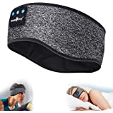 MUSICOZY Sleep Headphones Bluetooth Headband, Wireless Music Sleeping Headphones Noise Cancelling Sleep Mask Earbuds IPX6 Wat