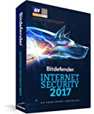 Bitdefender Internet Security 2017 - 3 PCs, 1 Year Sealed Retail DVD