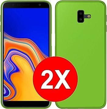TBOC 2X Funda de Gel TPU Verde para Samsung Galaxy J6+: Amazon.es: Electrónica