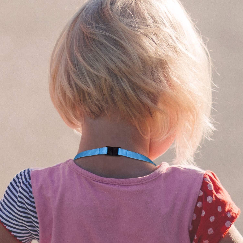 Blue/Light Blue 5 Pack Kids Face Mask Lanyard Wisdompro Mask ...