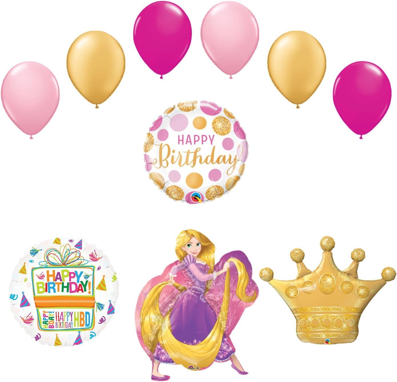Princess Rapunzel Party Supplies Happy Birthday Balloon Bouquet Decorations
