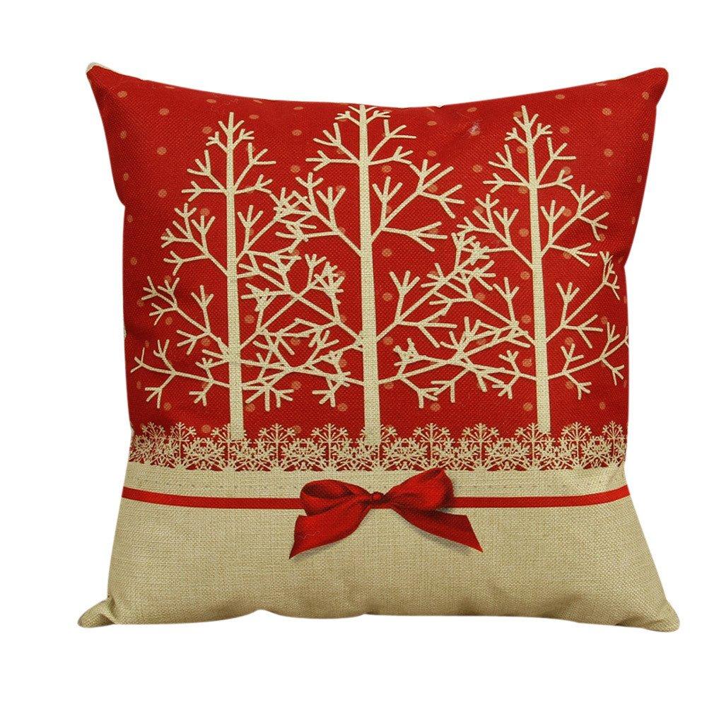 Cuscino decorativo di Natale, HomeBaby Copertura dell'ammortizzatore della cassa del cuscino della decorazione domestica del divano del divano Homebaby004
