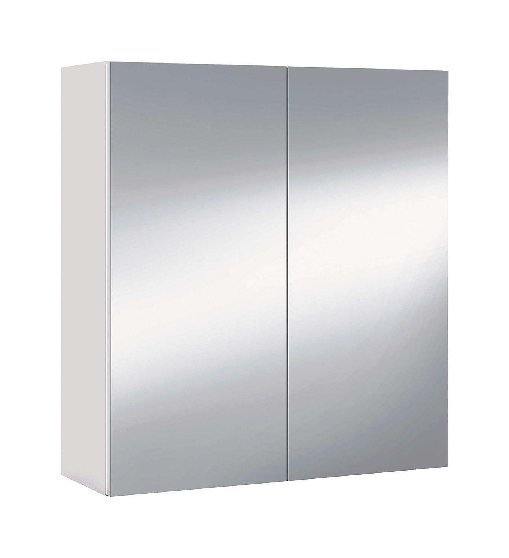 13Casa - Bahamas A3 - Specchio contenitore. Dim: 60x21x65 h cm. Col: Bianco. Mat: Melamina, Specchio. 305083BO F00533207005_WHITE
