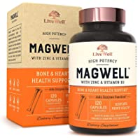 Zinc de magnesio y vitamina D3 – La mayoría de las formas biodisponibles de magnesio – Malate, glicinato, citrato – MagWell por LiveWell | Salud ósea y cardíaca, sistema inmunológico – 2 meses de suministro