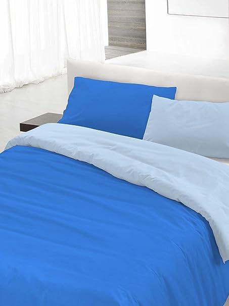 Italian Bed Linen Parure Copripiumino Azzurro Celeste Matrimoniale 250 X 200 Cm Tessili Per La Casa Copripiumini Bepco Ee