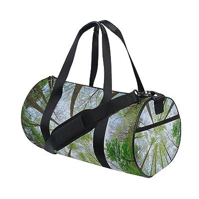 JSTEL Forest Sky Sunlight Sports Gym Bag for Women and Men Travel Duffel Bag