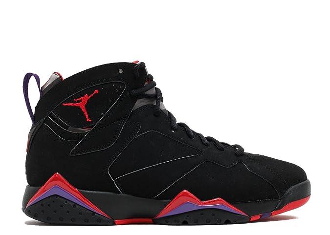 timeless design 6b893 32788 Amazon.com | Jordan Air 7 VII Retro Raptors Men's Basketball Shoes Black/True  Red/Dk. Charcoal/Club Purple 304775-018 (12) | Basketball