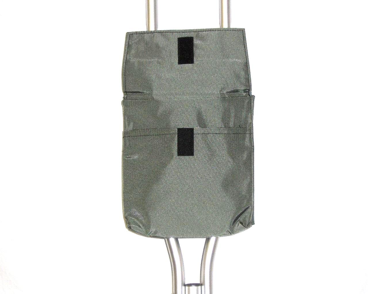 Handi Pockets 1a5ch Storage Accessory Crutch, Nylon, Charcoal Gray with Flap