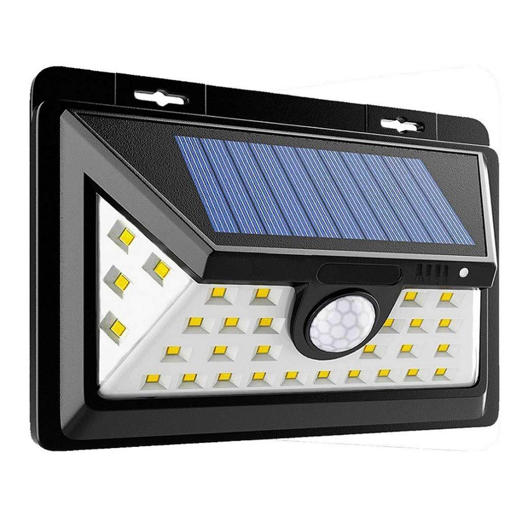 Luci del Sensore di Movimento Solare, Senza Fili Impermeabile Lampada da Parete Esterna Luci di Sicurezza Ad Energia Solare 34 LED Super Luminoso 3 Modalità Intelligenti per Giardino Le Scale Balcone