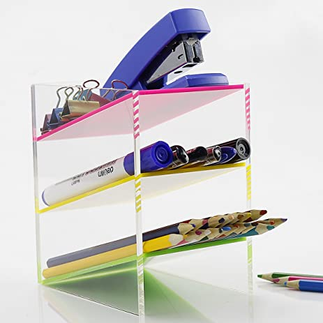 Clear Desk Organizer For Student Desk Colored Pencil Organizer Desk Caddy,Cute  Pencil Holder For