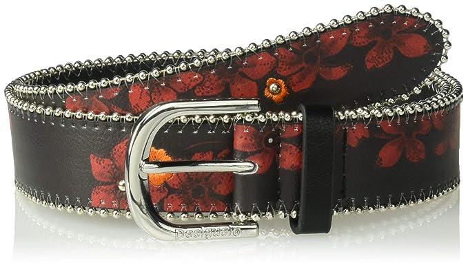 7d837aaecd8 Desigual ceinture 18warp20 gipsy patch noir  Amazon.fr  Vêtements et ...