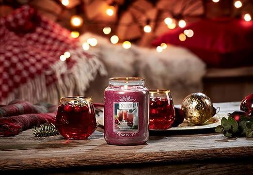 Yankee Candle bougie jarre parfum/ée jusqu/'/à 30/heures de combustion Gin fizz /à la grenade collection No/ël alpin petite taille