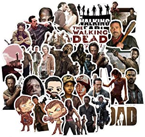 ARPA 50Pcs The Walking Dead Stickers for Laptops Books Cars Motorcycles Skateboards Bicycles Suitcases Skis Luggage Cup Hydro Flasks etc DJKT