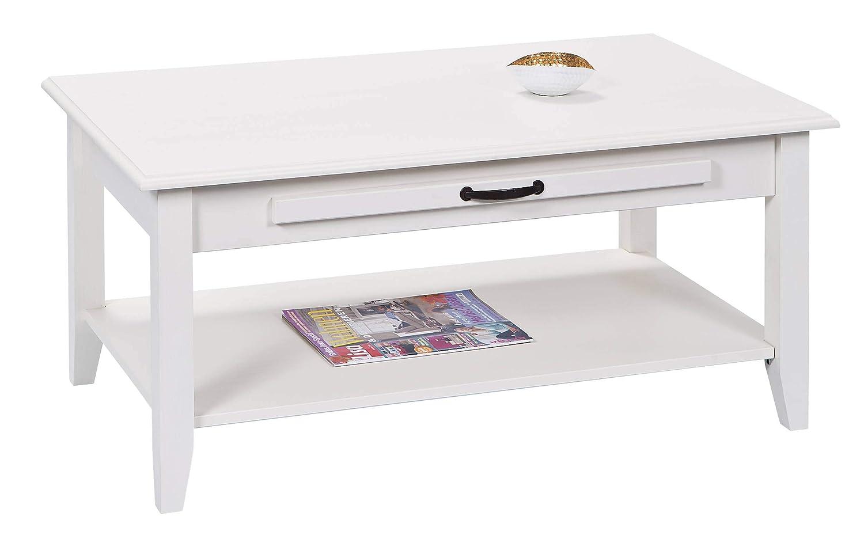 H24living Couchtisch Massiv Sofatisch Holz Tisch Beistelltisch