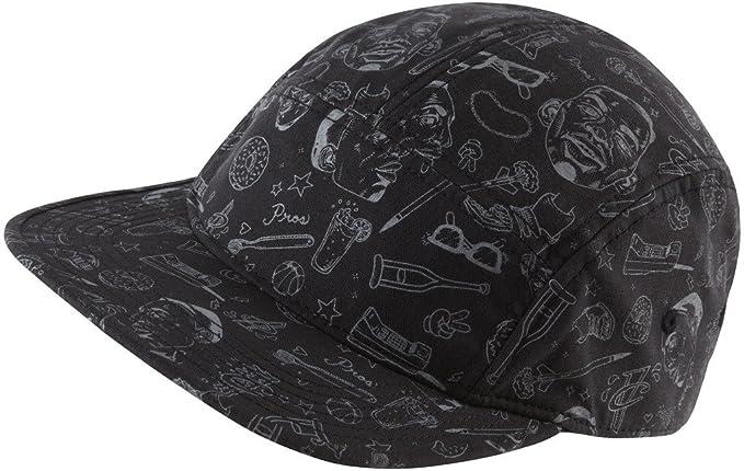 Nike Mens Lil Penny Hardaway Logo 5 Panel HAT 651629-010 - Black Grey db85594f8d0