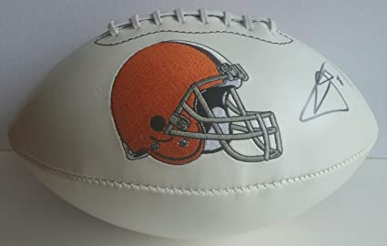 2e0638b0 Johnny Manziel Autographed Signed Football Cleveland Browns JSA at ...