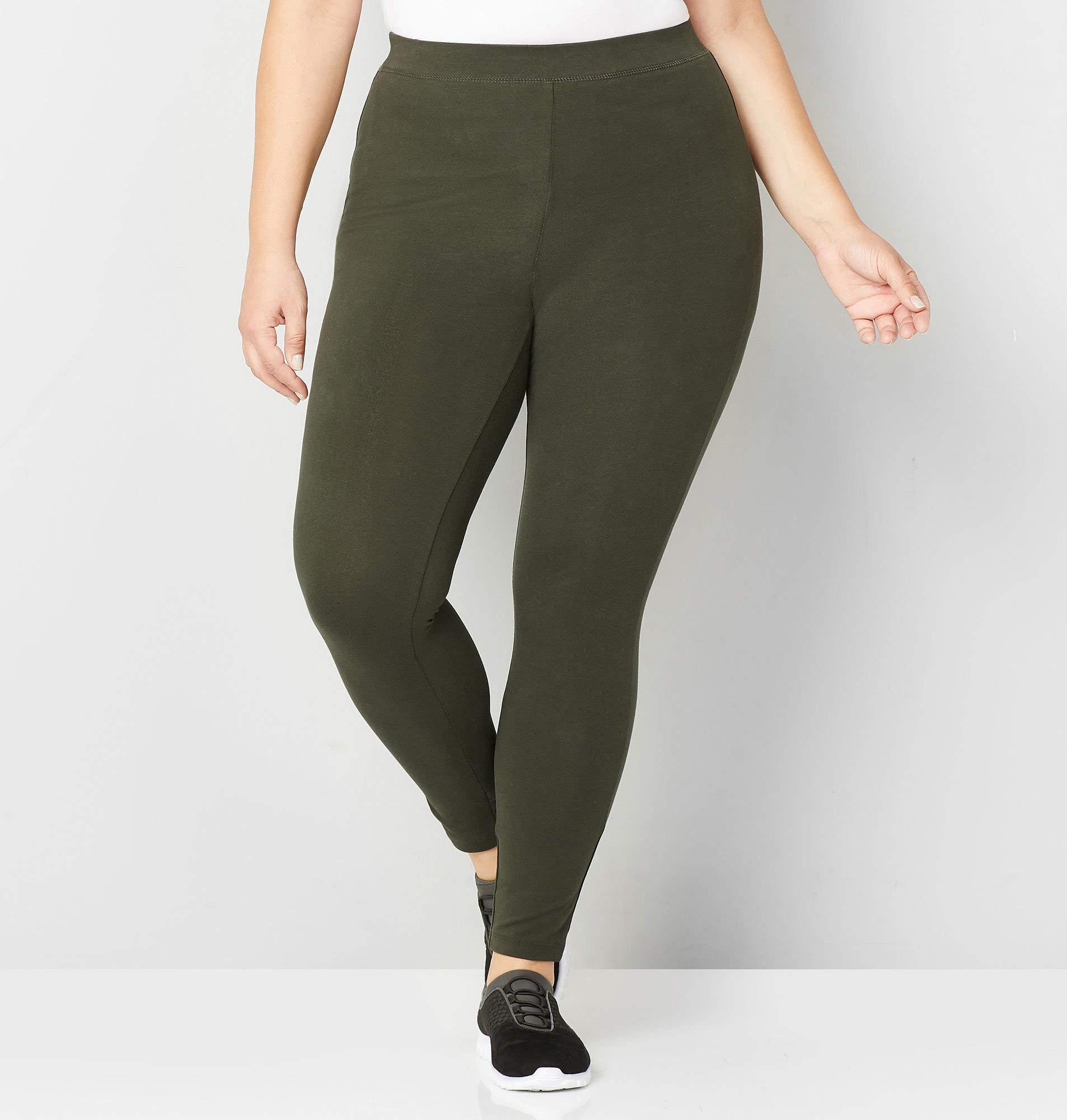 Avenue Women's Pima Cotton Legging, 22/24 Green
