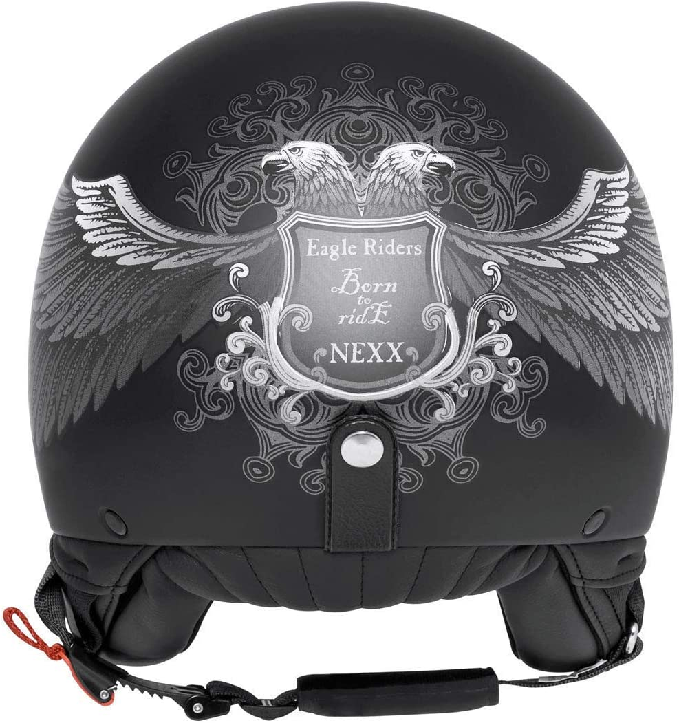 CASQUE JET NEXX X60 EAGLE RIDER BLK//SILVER MT L Noir//Black
