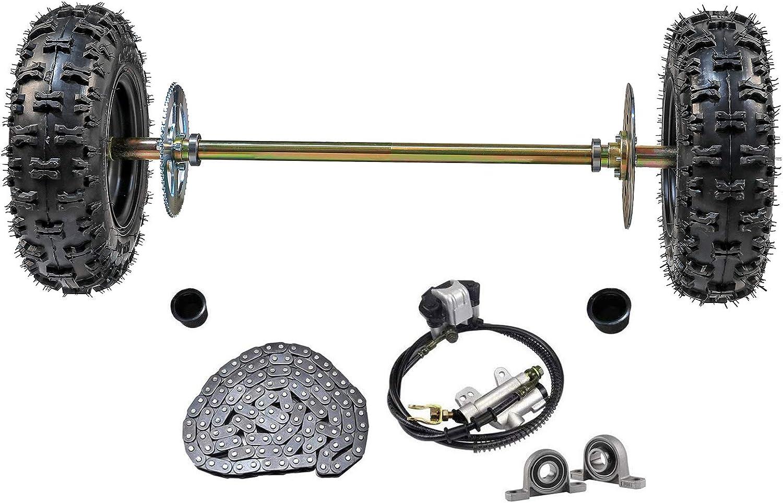 T8F 6mm 54T 4 Hole Sprocket Chain Drive Gear+Free Wheel F Rear Wheel GoKart ATV