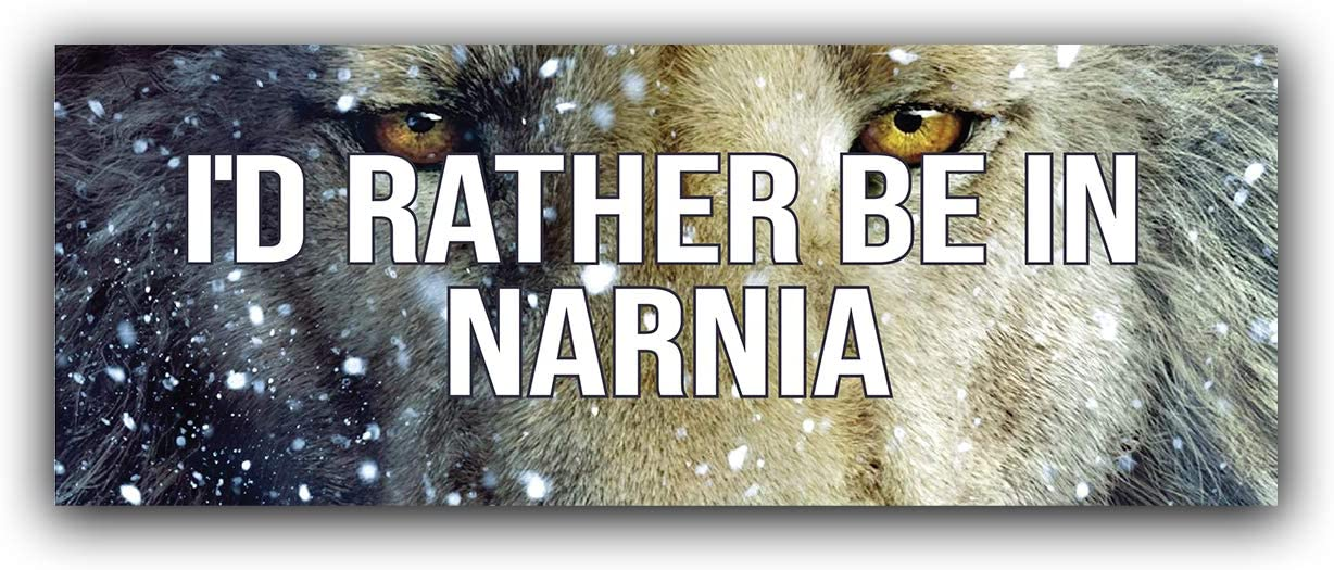 More Shiz I'd Rather Be in Narnia Vinyl Decal Sticker - Car Truck Van SUV Window Wall Cup Laptop - One 8.25 Inch Decal - MKS0770