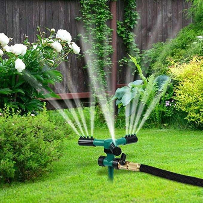 TOPmountain Aspersores de jardín para el Patio, aspersores rotativos para el césped, Ajustables en 360 Grados, para el Sistema de riego automático, a Prueba de Fugas.: Amazon.es: Hogar