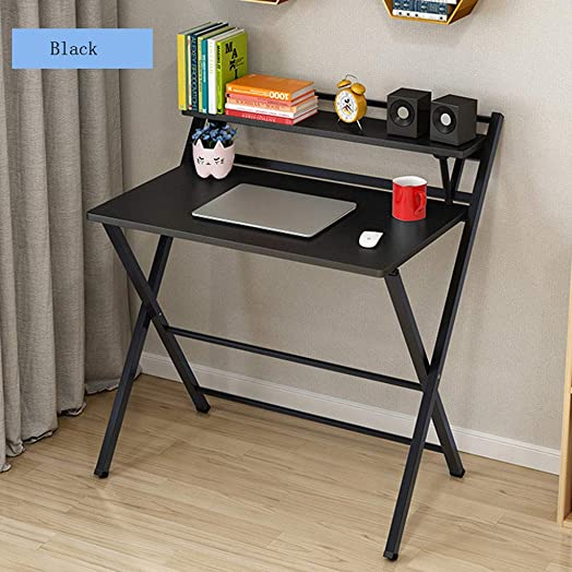 Fiudx Computer Desk Corner Folding Study Desk for Small Space Home Office Desk Simple Laptop Writing Table Best Gift for Child 31.5 x 19.7×28.5 in