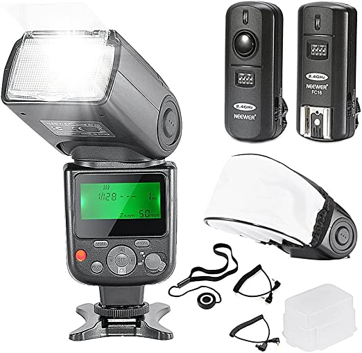 Neewer NW-670 TTL 10081788 Flash Speedlite con Kit de pantalla LCD ...