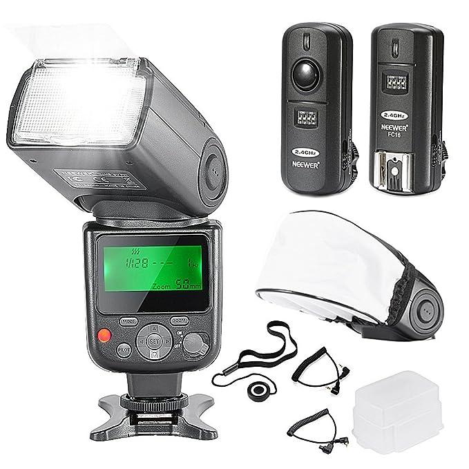 Neewer NW-670 TTL Flash Blitzgerät mit LCD Anzeige Set für Canon DSLR Kameras, beinhaltet: (1)NW-670 Blitz,(1)2,4GHz Wireless