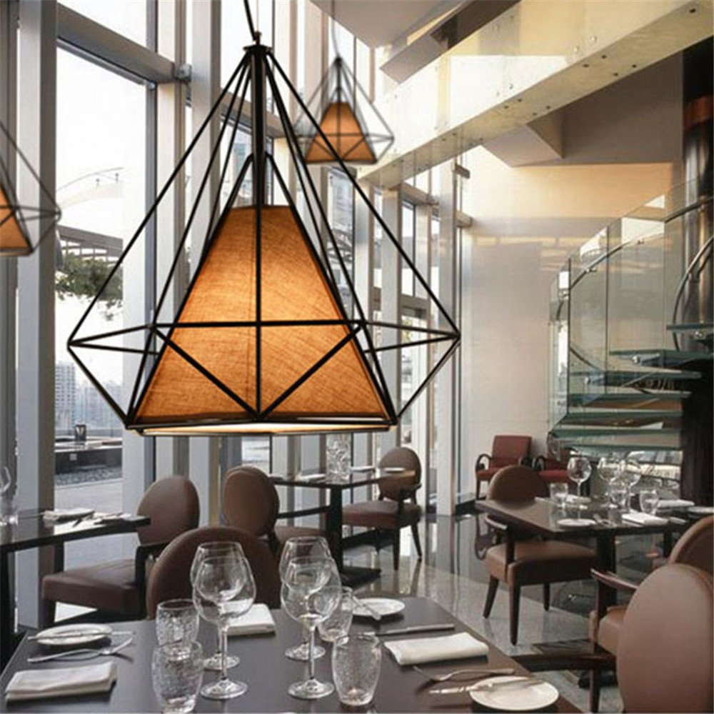 f948a98317a5d Lampes de Plafond Abat-Jour pour Lampe Suspension Lustre Cage en Fer ...