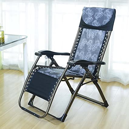 GJM Shop Folding Chair Lunch Break Lounge Chair Office Siesta Chair Casual Lazy Sofa Household Chairs