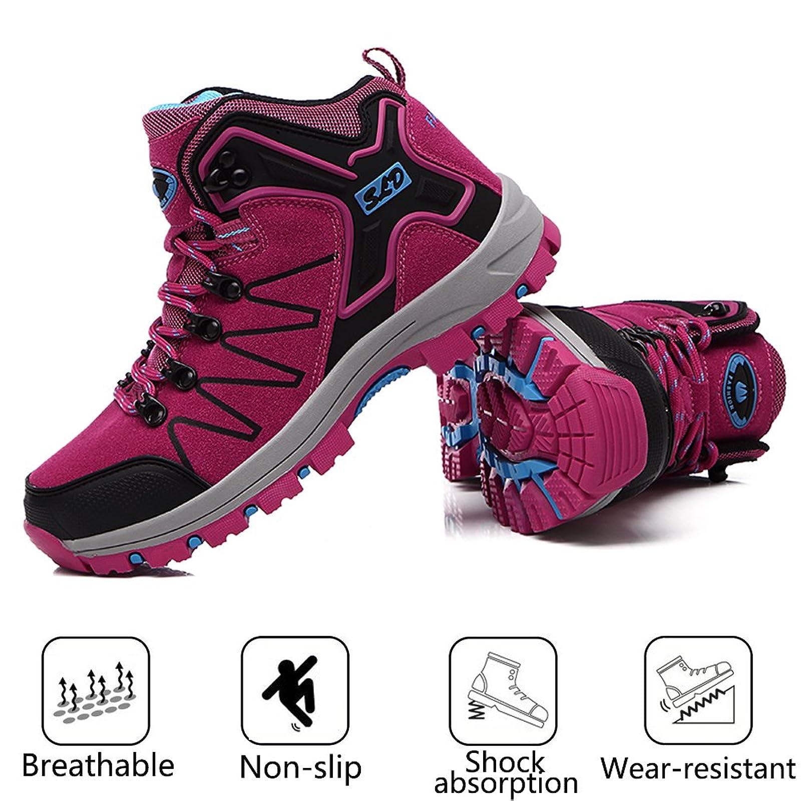 FEOZYZ Womens Hiking Boots Trekking Shoes Anti- QLMXZY's 1008 - 4
