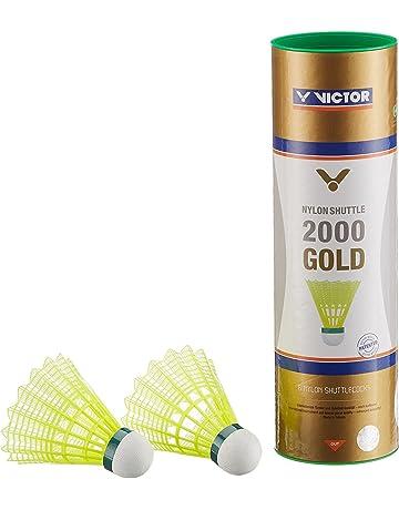 VICTOR Badmintonball Nylonshuttle 1000 schnell 6er Dose gelb Plastik Federball Bälle