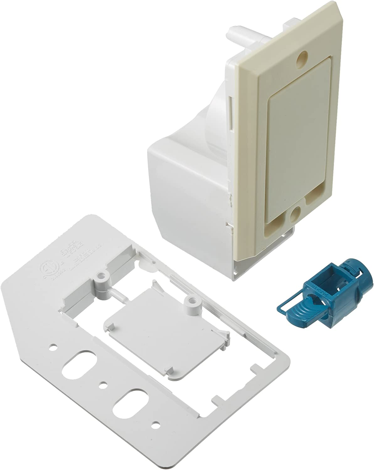 NuTone CI358 Central Vacuum Direct Connect Electrified Inlet, Ivory
